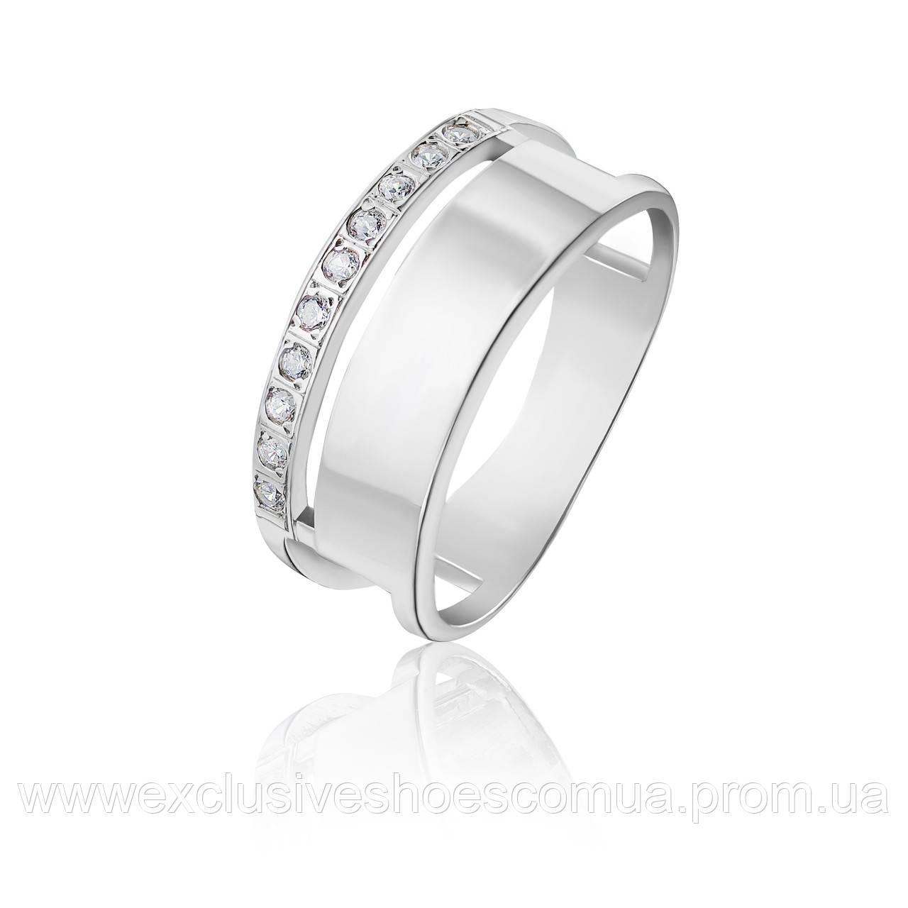 """Серебряное кольцо """"Стелла"""" с фианитами, арт-910017б"""
