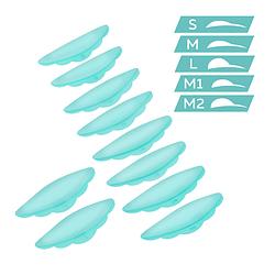 Innovator Cosmetics. Валики силіконові для ламінування вій, Ultra Soft. 5 пар (S/ M/ M1/ M2 / L)