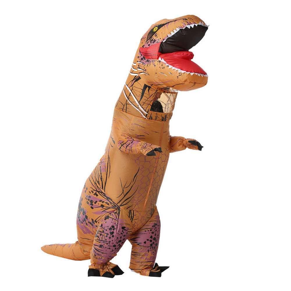 Надувний костюм Тираннозавр (коричневий)