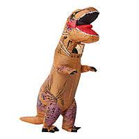 Надувний костюм Тираннозавр (коричневий), фото 1