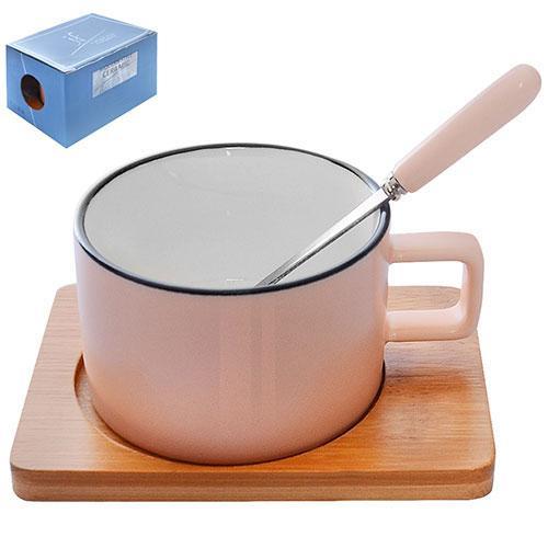 """Чашка с подставкой и ложкой """"Village"""" 180мл 12*9см R85705"""