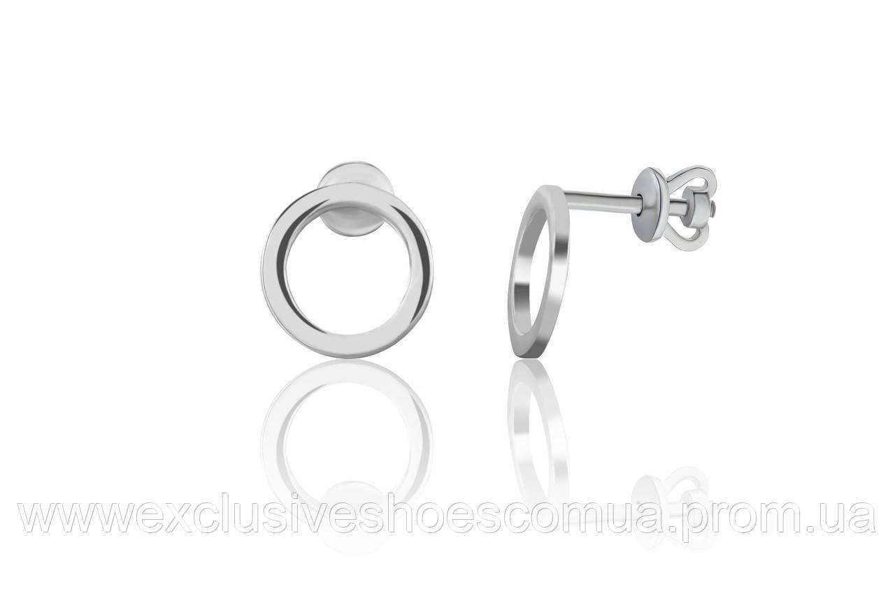 Серебряные пусеты без вставок AVANGARD арт-929128