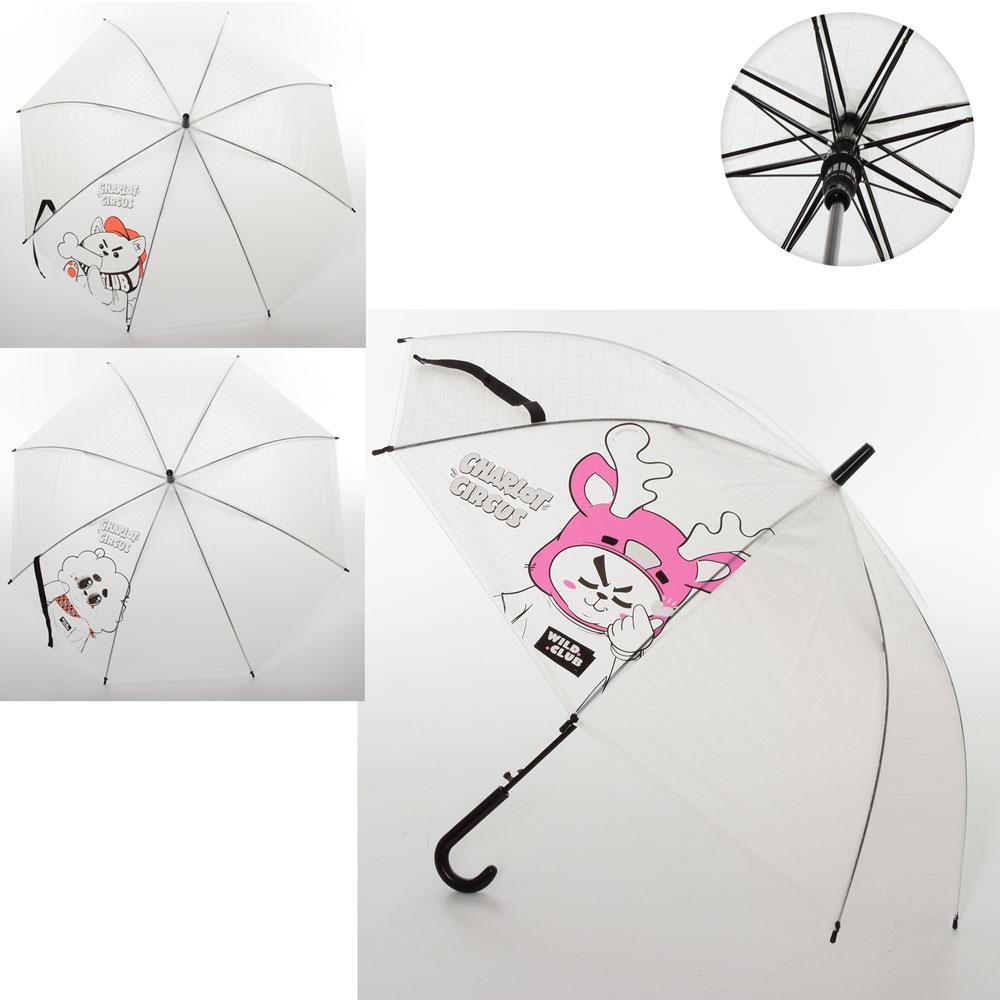 Зонтик детский MK 3650  длина73см,трость59см,диам.91см,спица53см, клеенка,3вида,в кульке,