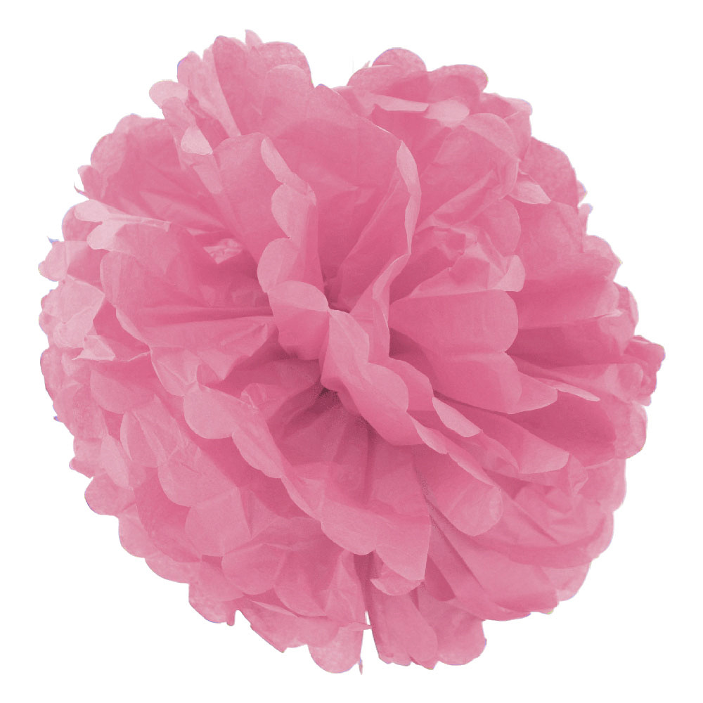 Декор бумажные Помпоны 30см (розовый 0020)