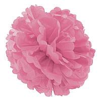 Декор паперові Помпони 30см (рожевий 0020), фото 1