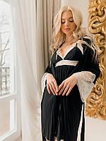 Комплект жіночої нижньої білизни пеньар з халатом Т022