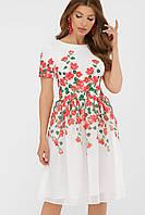GLEM Красные цветы платье Мияна-КД к/р