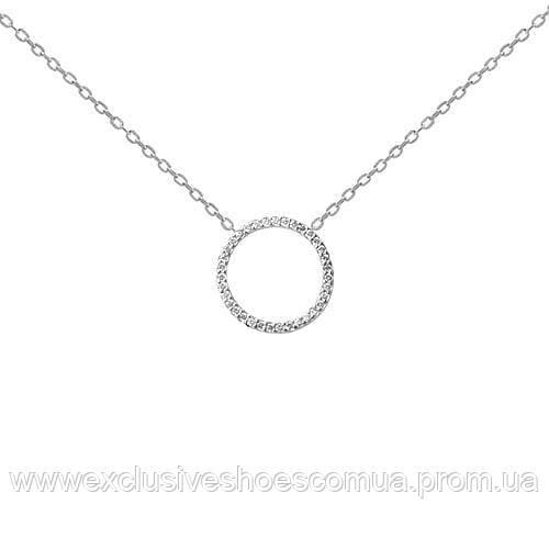 Серебряная  колье - кольцо с фианитами.