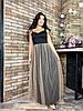 Женское нарядное длинное платье с двойной юбкой батал