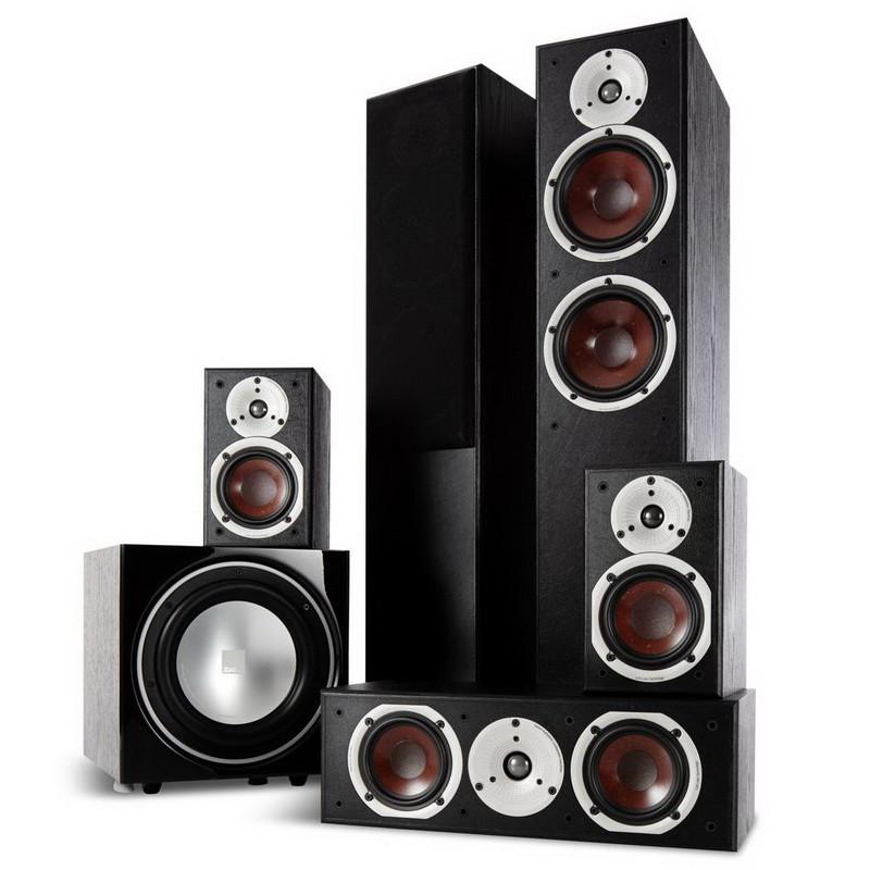Комплект акустики DALI Spektor 6 set 5.1 (6 + 1 + Vokal + SUB E-9F) Black