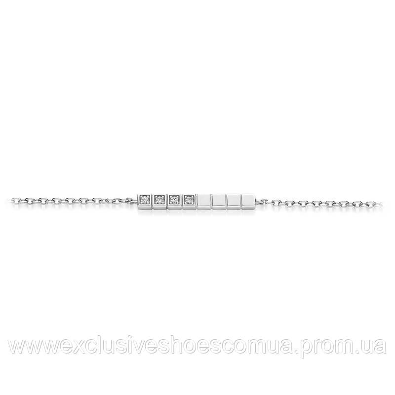 Браслет из серебра AVANGARD с фианитами, размер регулируемый 17- 18 - 19см, арт-940031