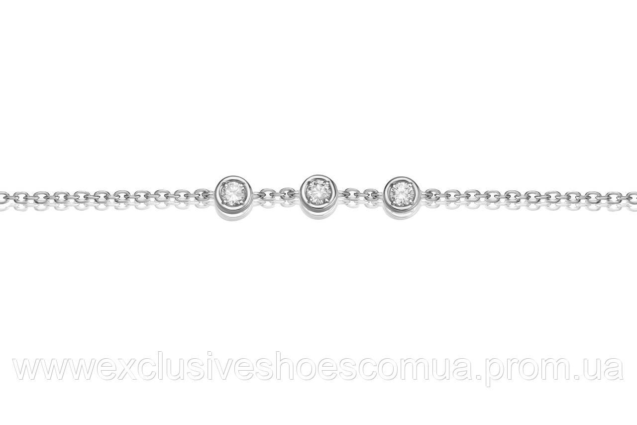 Браслет из серебра AVANGARD , размер регулируемый 17-19, арт-940021