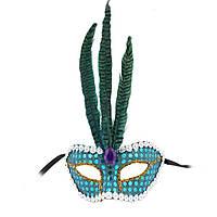 Венецианская маска Фантазия (голубая) 515184805