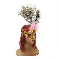 Венецианская маска Дива (золотая) 979817153