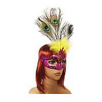Венецианская маска Дива (малиновая) 979815236