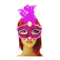 Венецианская маска Патриция (20см) малиновая 979815190