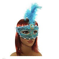 Венецианская маска Патриция (20см) голубая 979815222