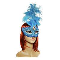 Венецианская маска Летиция (30см) голубая 979816622