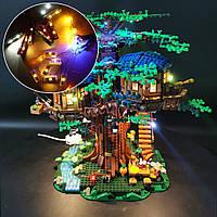 DIY світло комплект освітлення тільки для LEGO 21318 ідеї будиночок на дереві будинок Блок цегла