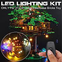 ЗРОБИ САМ LED освітлення набір тільки для LEGO 21318 ідеї будиночок на дереві цегли іграшка Вт/пульт