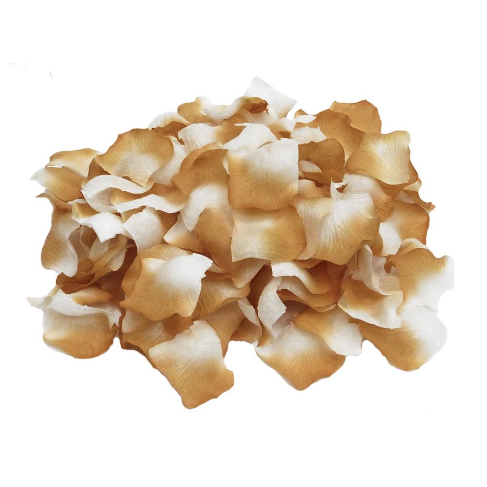Лепестки роз (уп. 120шт) бежево-белые 662280869