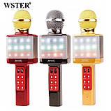 Мощный, стильный Караоке микрофон WSTER WS-1828 c LED подсветкой, фото 8
