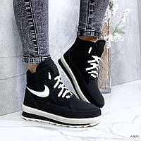Крутые теплые женские дутики, дутые ботинки , зимние, черные. Обувь зимняя женская, зима
