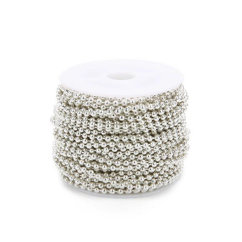 Цепочка шариковая для украшений 1,2 мм, светлое серебро.