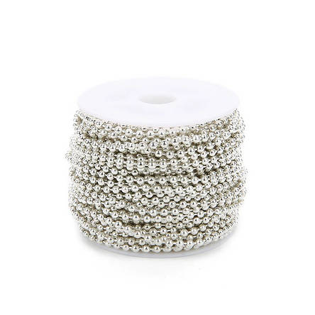 Цепочка шариковая для украшений 1,2 мм, светлое серебро., фото 2
