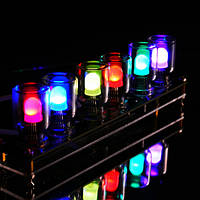 Geekcreit DIY Аврора LED барвисті світло-Куба хроматографії скло годинник комплект