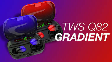 Обзор беспроводных наушников TWS Q82 Gradient