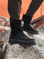 Мужские зимние ботинки черные Gross