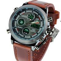 Наручные часы AMST WATCH (коричневые)+ портмоне чорное в подарок!!!