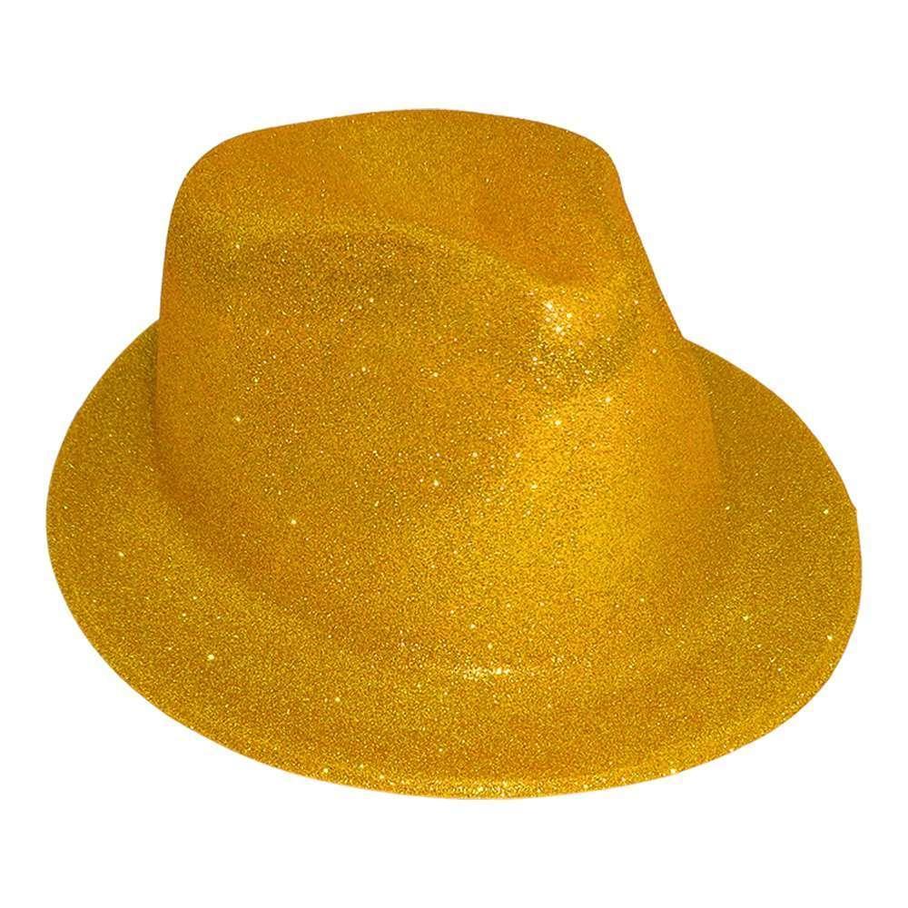 Шляпа детская Мафия блестящая (золото) 1126441665