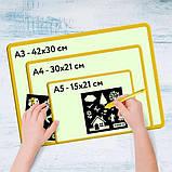 Малювання світлом планшет малюй світлом А5 А4 А3 набір для малювання в темряві, фото 6