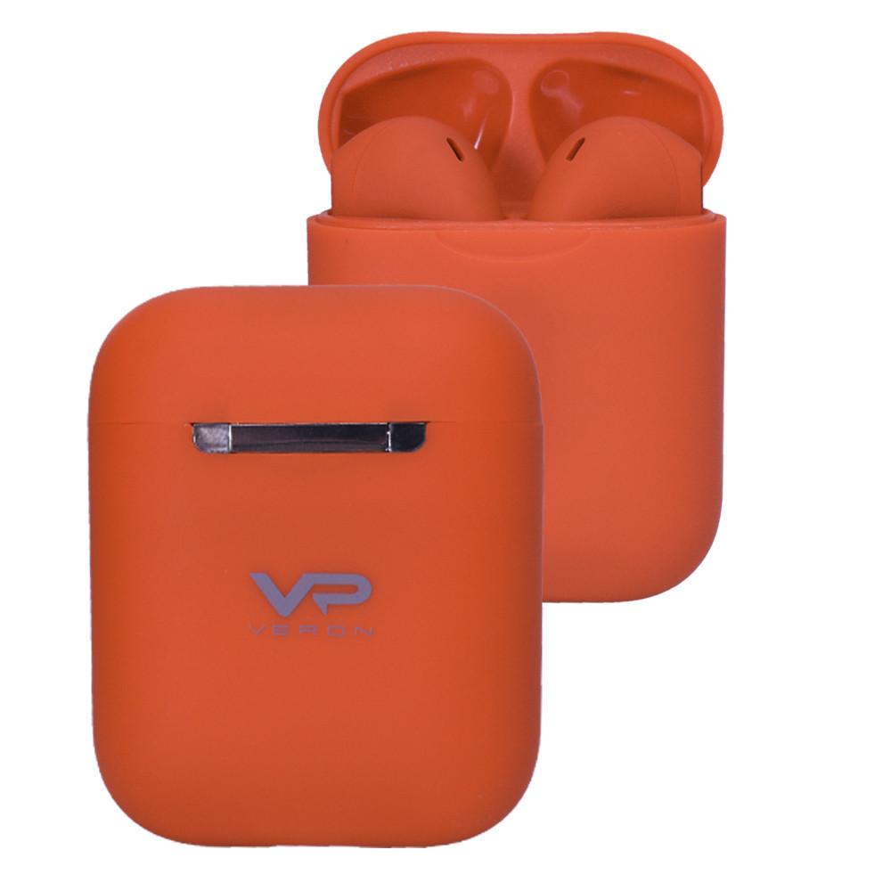 Veron (VR-01) TWS Bluetooth Earphone — Colorful Sound, Orange