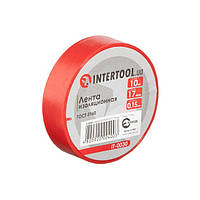 Стрічка ізоляційна 0.15 мм*17мм*10м червона INTERTOOL IT-0030