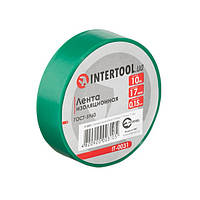 Стрічка ізоляційна 0.15 мм*17мм*10м зелена INTERTOOL IT-0031