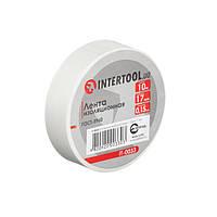 Стрічка ізоляційна 0.15 мм*17мм*10м біла INTERTOOL IT-0033