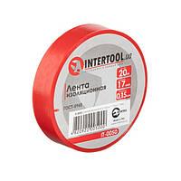 Стрічка ізоляційна 0.15 мм*17мм*20м червона INTERTOOL IT-0050