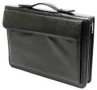 Мужская папка-портфель для документов из искусственной кожи Exclusive 711200 черная