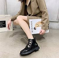 Женские лаковые ботинки. Модель 70345, фото 4