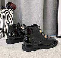 Женские лаковые ботинки. Модель 70345, фото 9