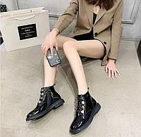 Женские лаковые ботинки. Модель 70345, фото 5