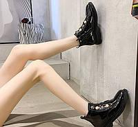 Женские лаковые ботинки. Модель 70345, фото 3