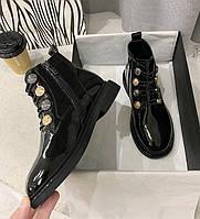 Женские лаковые ботинки. Модель 70345, фото 8