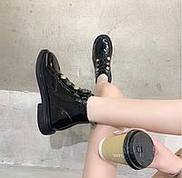 Женские лаковые ботинки. Модель 70345, фото 6