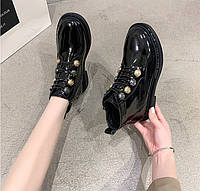 Женские лаковые ботинки. Модель 70345, фото 7