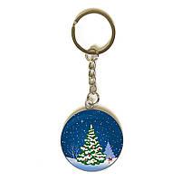3D брелок новогодний Елка в снегу 3,5см 1151078267