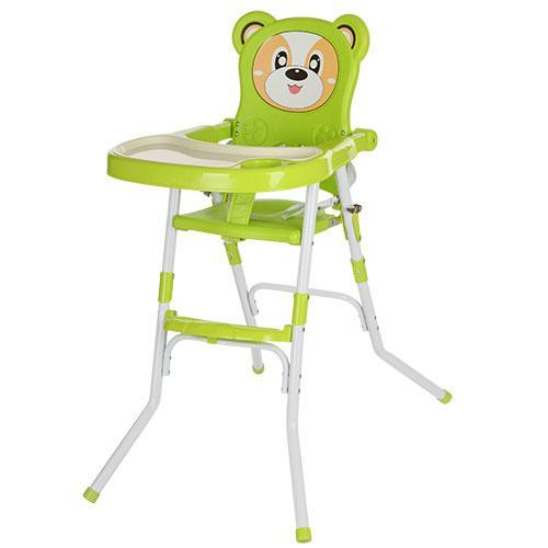 Стульчик 113-5  для кормления,2в1(стульчик),cклад.,2-х точ.рем.безоп,регул.столик,зеленый